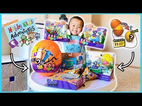 HobbyKids Adventures Toy Unboxing with New Jackhammer Egg Surprise