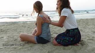 Germany and Italy meet in Jerusalem beach - ASMR back massage *natural sounds*