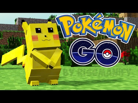 Pokémon GO in Minecraft! ПОКЕМОН ГО В МАЙНКРАФТ БЕЗ МОДОВ ( пикачу и покеболы )