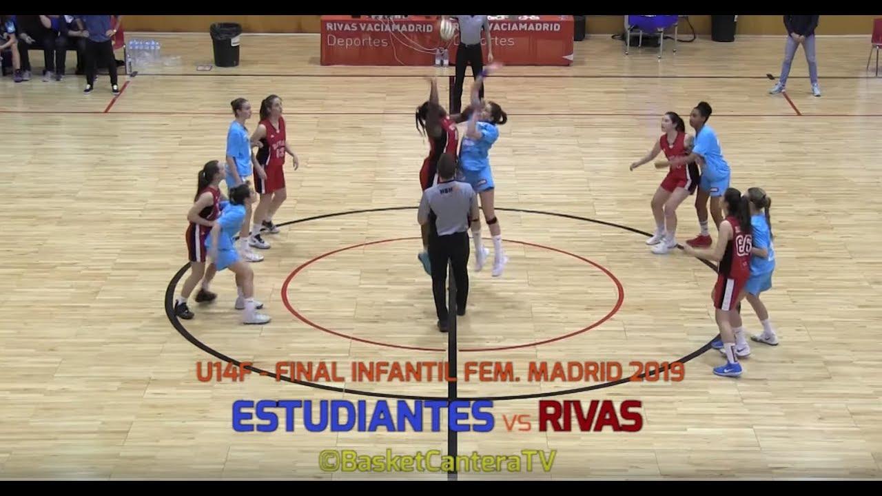 U14F - Final ESTUDIANTES vs RIVAS P. SURESTE.- Final4 Inf.Fem. Madrid 2019 (BasketCantera.TV)
