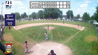 Town and Country 12U State Championships Game #7 Frankton vs Fairfiled 7-27-19