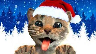 ПРИКЛЮЧЕНИЕ МАЛЕНЬКОГО КОТЕНКА мультик игра котик стал Дедом Морозом Сантой и желейный медведь #КИД