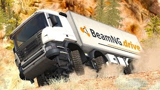 Dangerous Curves #6 – BeamNG Drive Crashes & Fails Compilation