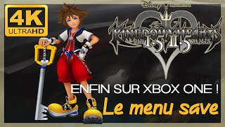 ❤️ [Test 4K]  Kingdom Hearts Birth by Sleep, le menu de sauvegarde sur Xbox One X !