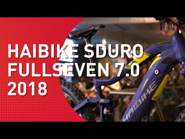 Видео Электровелосипед Haibike SDURO FullSeven 7.0 500Wh сине-бело-желтый