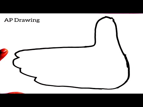 Easy Drawing How To Hand Finger Turn To Cute Bird Step By Step