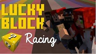 LUCKY BLOCK RACES! | HwNt, OMGchad and CaptainSparklez!