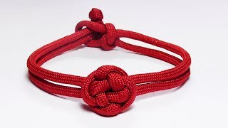 """""""How You Can Make A Chinese Button Knot Paracord Bracelet"""""""