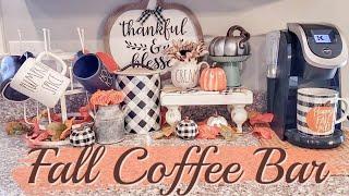 FALL COFFEE BAR | FARMHOUSE FALL DECOR | FALL HOME DECOR