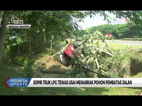 Sopir Truk LPG Tewas Usai Menabrak Pohon Pembatas Jalan Tol Tangerang Merak