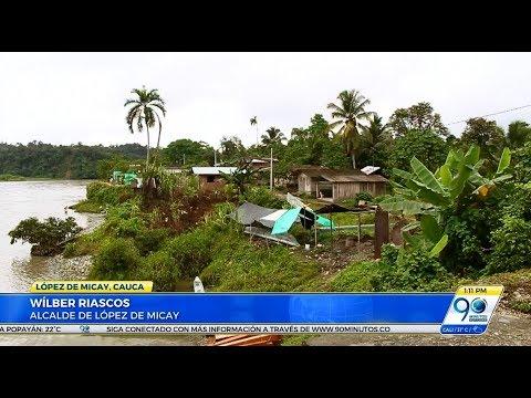 Temor en López de Micay por desprendimiento de tierra en dos corregimientos de la zona