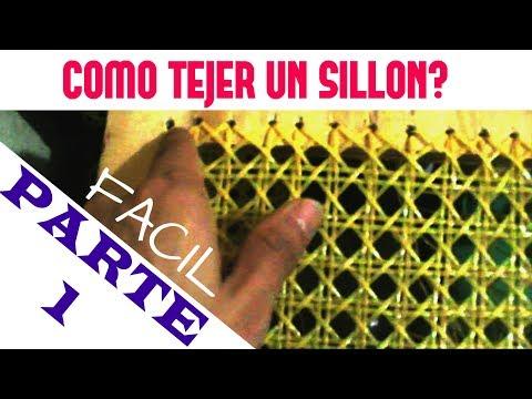 COMO TEJER UN SILLON CON UN DOLAR FACIL (PARTE 1) DIY: | ENJUNCADO TUTORIAL