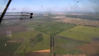 Заход на посадку. Ан-30 из кабины штурмана.