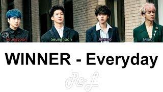 WINNER - Everyday (Color Coded Lyrics ENGLISH   - YouTube