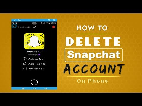 How to Delete Snapchat Account on Phone