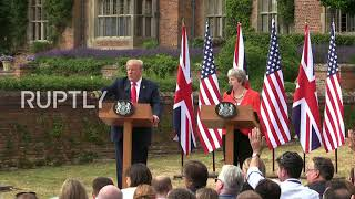 UK: 'CNN is fake news, I don't take questions from CNN' - Trump in the UK