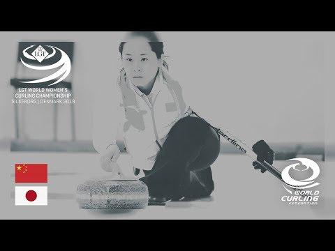 China v Japan - round robin - LGT World Women's Curling Championships 2019