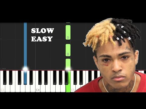 XXXTentacion - Changes (SLOW EASY PIANO TUTORIAL)
