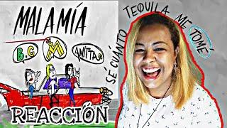 REACCIÓN - MALA MÍA - MALUMA, BECKY G & ANITTA - Melhor Remix🔥