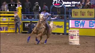 Hailey Kinsel SHATTERS Arena Record For Barrel Racing In Round 3 | NFR 2017 Interviews