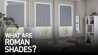 Custom Roman Shades | Window Treatment Ideas