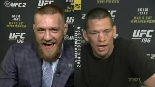 Conor McGregor Nate Diaz TSN Heated Interview
