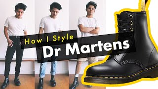 How I Style Dr Martens Boots! - (1460 / Pascal Combat Boots Mens Outfits)