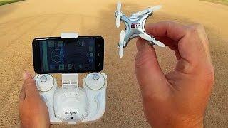 Cheerson CX-10WD Altitude Hold FPV Nano Camera Drone Flight Test Review