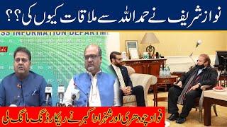 Why Nawaz Sharif Met Hamad Ullah ? Information Minister Fawad Ch And Shehzad Akbar Raise Question