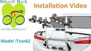 Rear Mounted Bike Rack installation Video : BikerZ TrunkZ