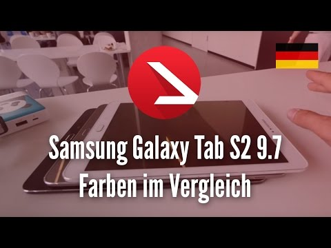 Samsung Galaxy Tab S2 9.7 Farben im Vergleich [4K UHD]
