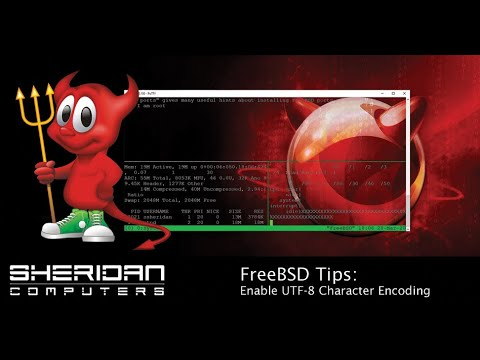 How to enable UTF8 on freebsd
