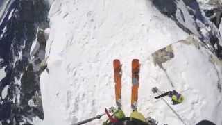 POV video of skiing the Grand Teton