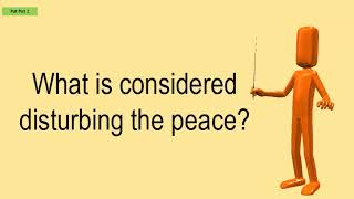 What Is Considered Disturbing The Peace?