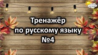 Тренажёр по русскому языку №4. Учимся играя.