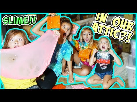 WE TURNED OUR ATTIC INTO A SLIME FACToRY! Learn how to make awesome slime!