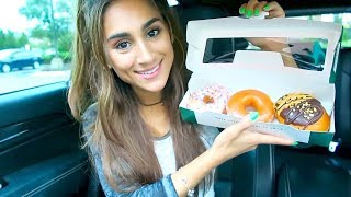 TRYING KRISPY KREME DOUGHNUTS (FIRST TIME REACTION)