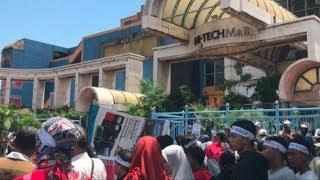 Tolak Alih Fungsi Jadi Gedung Kesenian, Pedagang Hi-Tech Mall Surabaya Gelar Aksi Demo