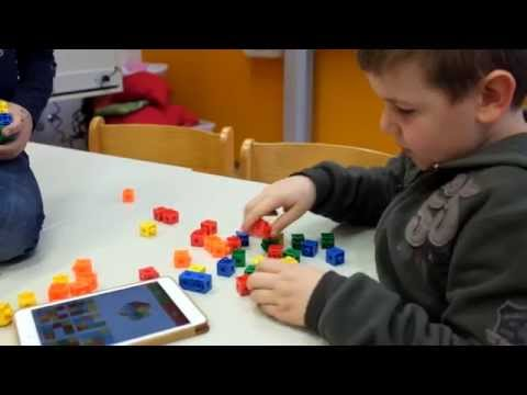 iPad und Handlungsebene CubeMaster und Steckwürfel