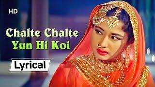 Chalte Chalte Yun Hi Koi With Lyrics | Pakeezah   - YouTube
