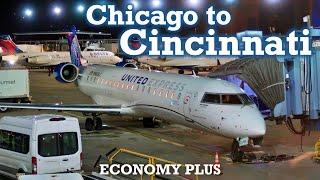 Full Flight: United Express CRJ-550 Chicago To Cincinnati (ORD-CVG)