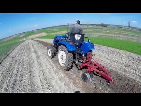 Оранка 2016 мінітрактором Синтай 244/Plowing 2016, Xingtai tractor 244/Orka 2016