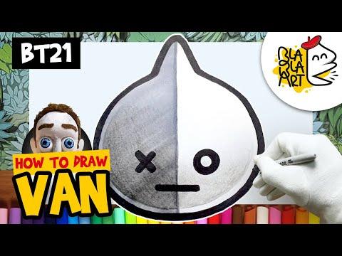 How to Draw BT21 Cooky | BTS Jungkook Persona - смотреть онлайн на