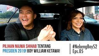 Pilihan Najwa Shihab tentang presiden 2019! Boy William ketawa! - #NebengBoy S2 Eps. 5