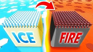 Future ICE Island VS Medieval FIRE Island (Funny Ancient Warfare 3 Gameplay)
