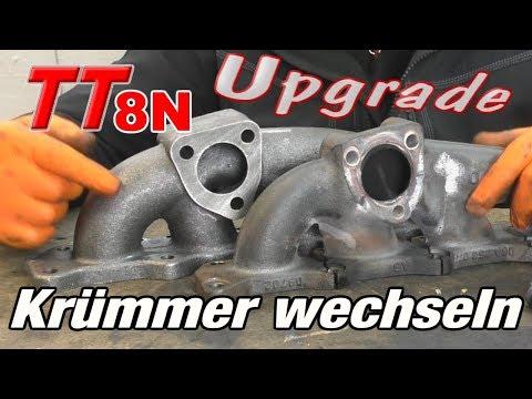 Audi TT8N Krümmer austauschen mehr druck für den TT 1.8T