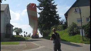 Eindrücke vom Bau der Windkraftanlage. Enercon Typ E-101