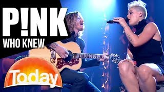 P!nk on TODAY - 'Who Knew'