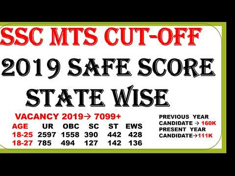 SSC MTS EXPECTED CUT-OFF STATE WISE 2019, VACANCY STATE WISE DETAIL 2019