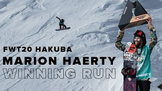 FWT20 Hakuba | Marion Haerty Snowboard Women Winning Run